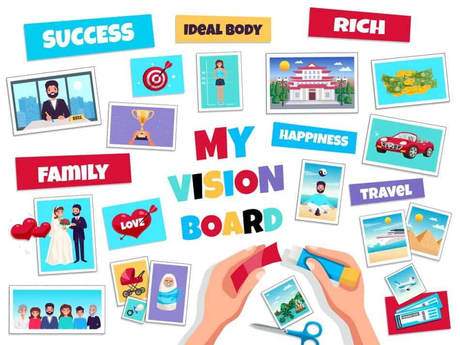 take your time with a vision board