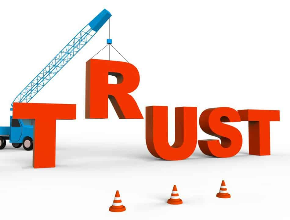 Trust in a relationship happens over time