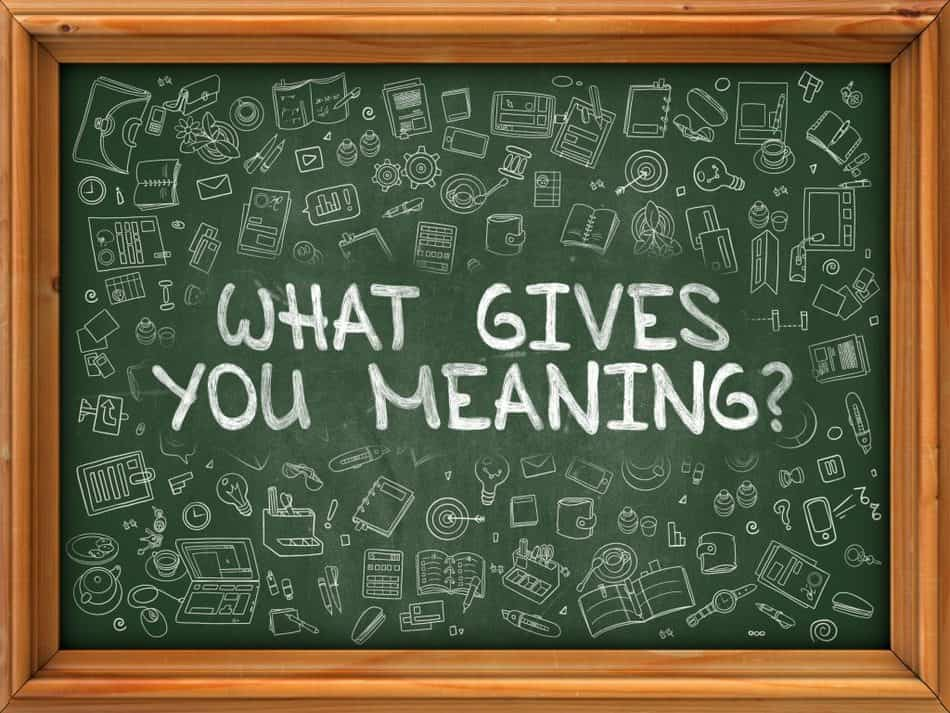 write down your meaning to life