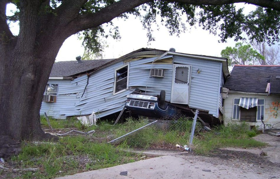 house totalled by hurricane katrina